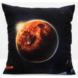 Černý povlak na polštář se vzorem měsíce