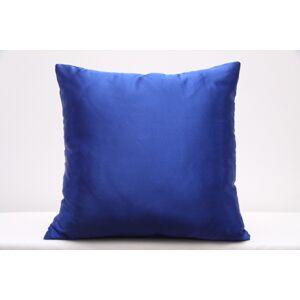 Dekorační povlak na polštář do obýváku v modré barvě