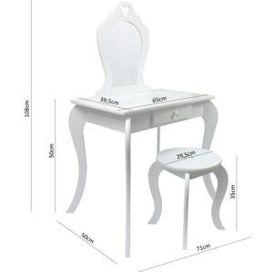 Detský toaletný stolík v mentolovej farbe