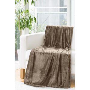 Kvalitní hnědá deka s odleskem