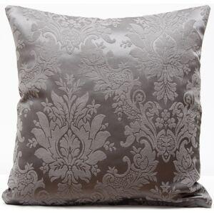Luxusní šedý povlak na polštář s ornamenty