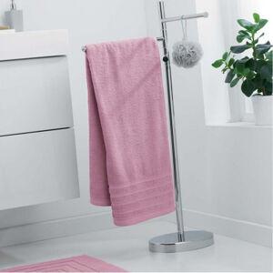 Luxusní světle růžový ručník z měkké bavlny 70 x 130 cm