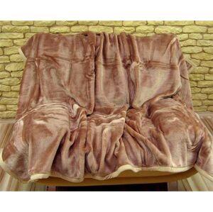 Luxusní teplé deky s potiskem hnědé barvy