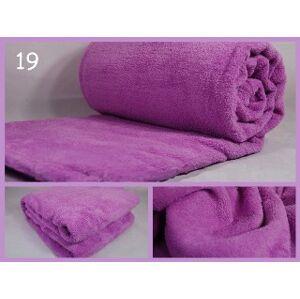 Měkká jemná deka jasno fialové barvy