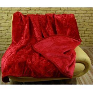 Moderní deky červené barvy
