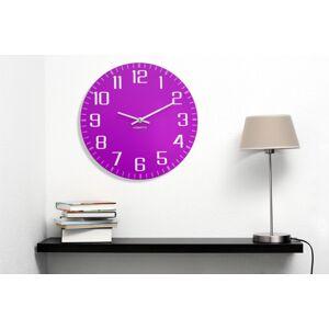 Moderní nástěnné hodiny fialové