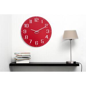 Nástěnné hodiny červené barvy