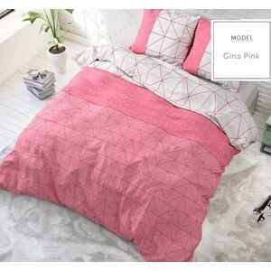 Oboustranné vzorované povlečení růžové barvy 140 x 200 cm
