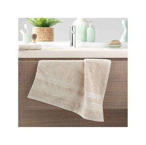 Praktický jednofarebný béžový uterák 50 x 90 cm