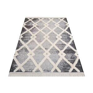 Sivý koberec v škandinávskom štýle