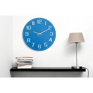 Tiché nástěnné hodiny kulaté modré