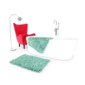 Zelené předložky do koupelny
